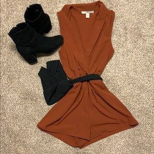 Pants - Burnt orang fall romper!